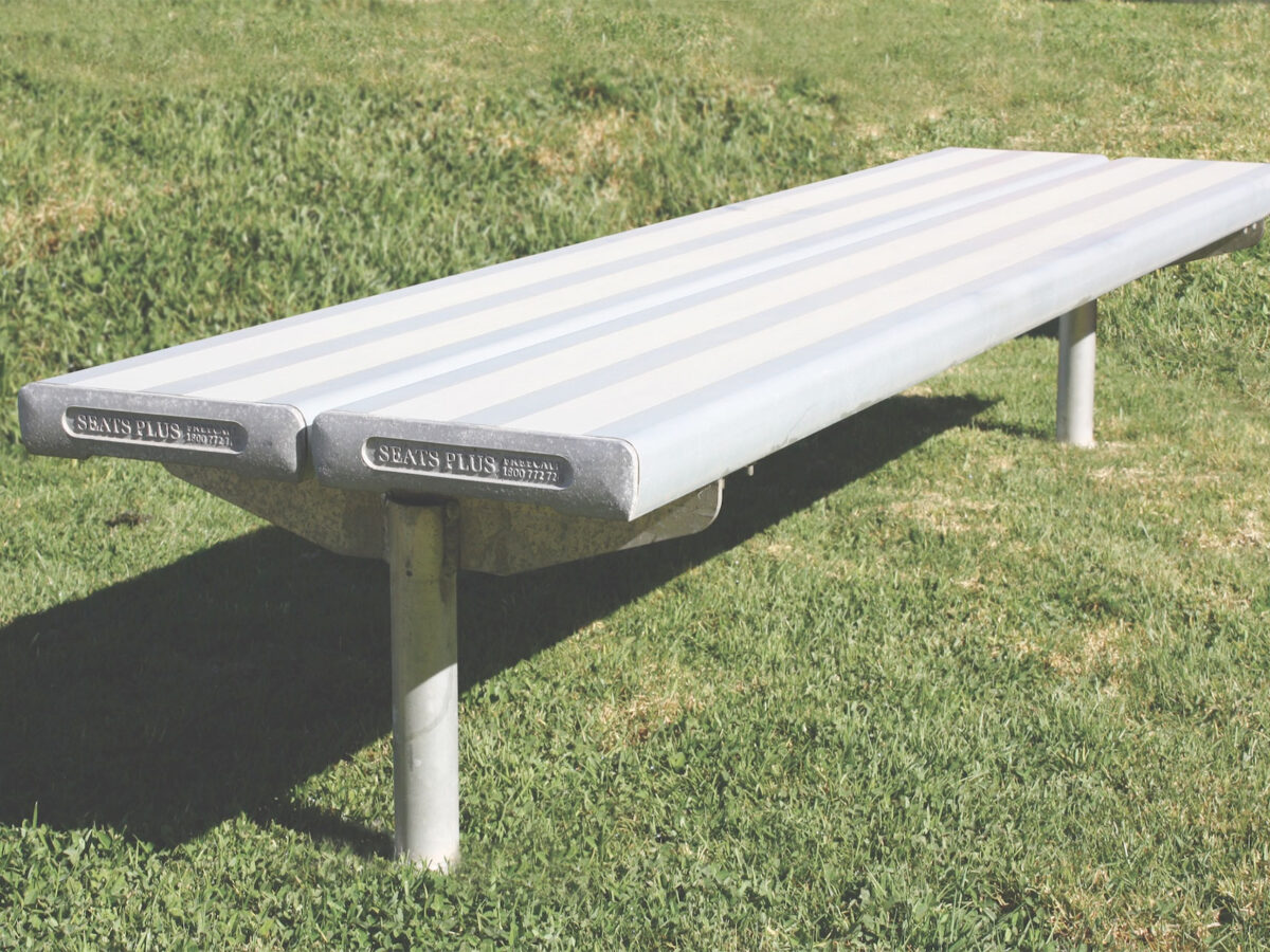 SeatsPlus In Ground Double Plank Park Bench