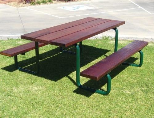 SeatsPlus Timber Slatted Park Setting