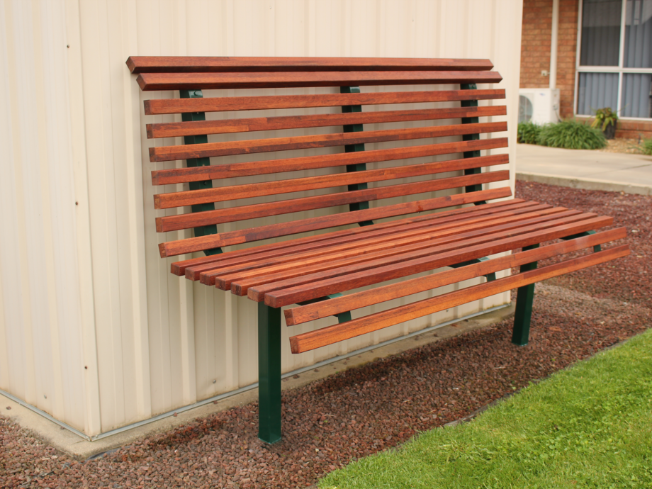 SeatsPlus Timber In Ground Bench Back Rest