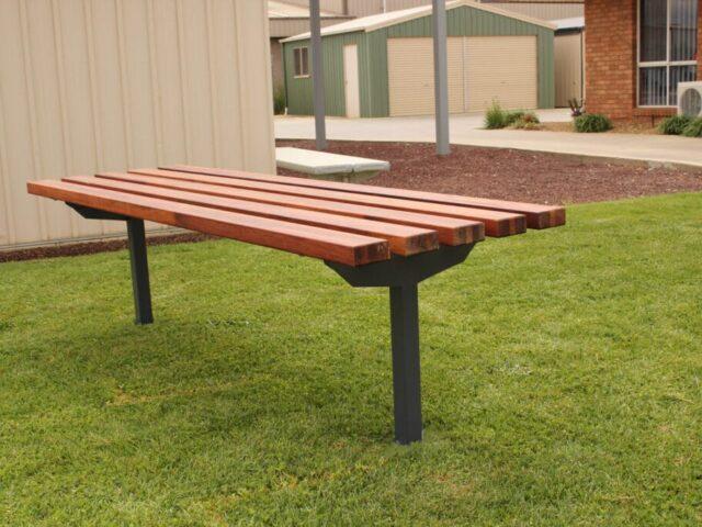 SeatsPlus Timber Bench In Ground