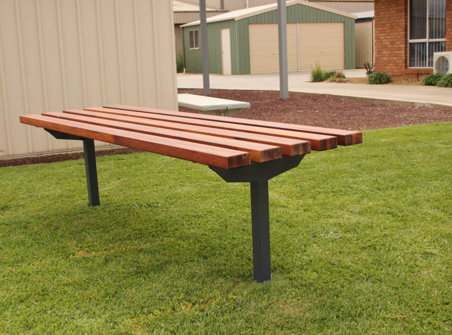 SeatsPlus Timber Bench In Ground