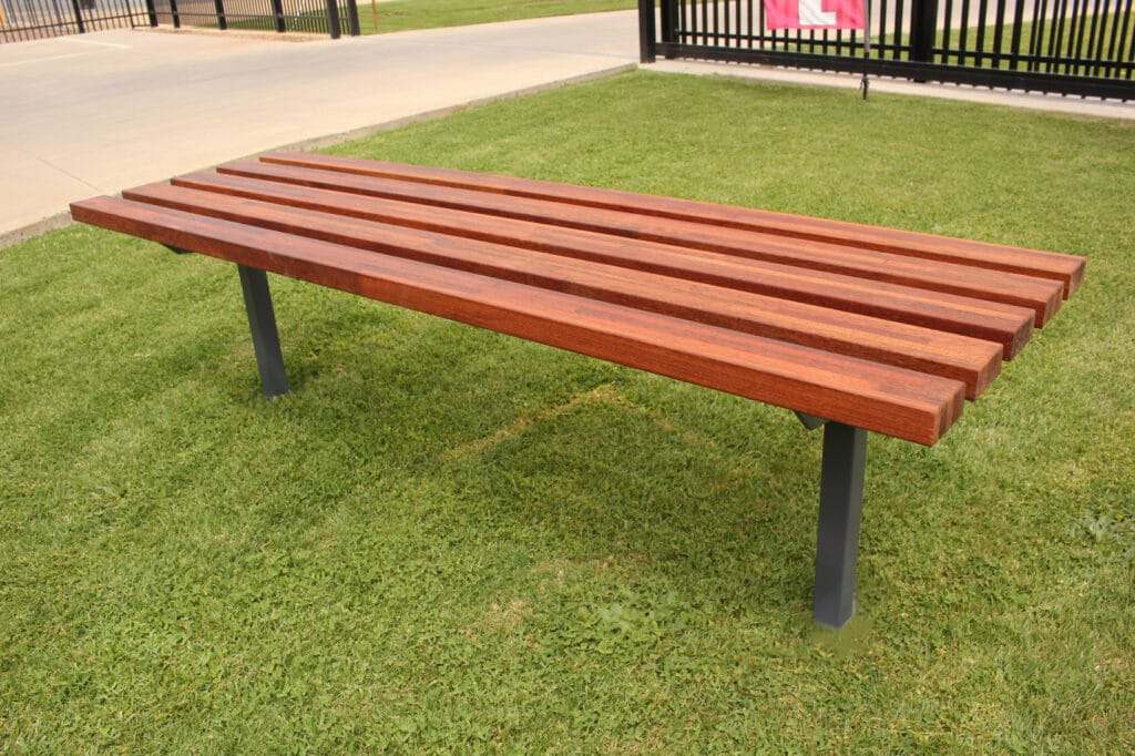 Timber Bench In Ground
